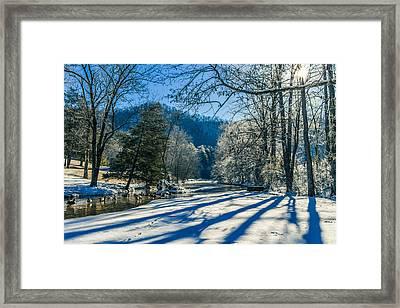 Steele Creek Winter Framed Print