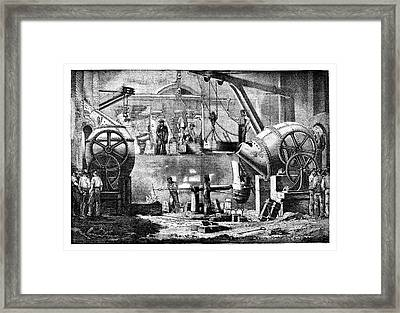 Steelworks Framed Print by Science Photo Library
