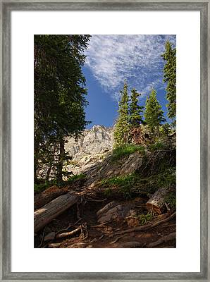 Steep Mountain Hike Framed Print by Michael J Bauer