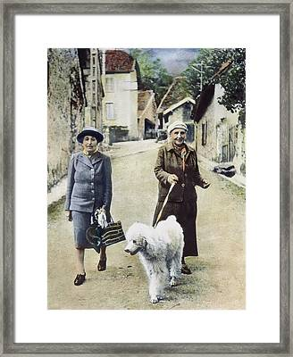 Stein And Toklas, 1944 Framed Print