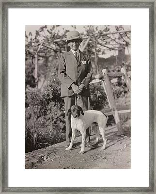 Stein With His Dog Framed Print by British Library