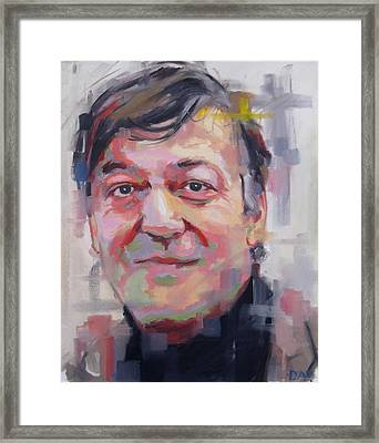 Stephen Fry  Framed Print