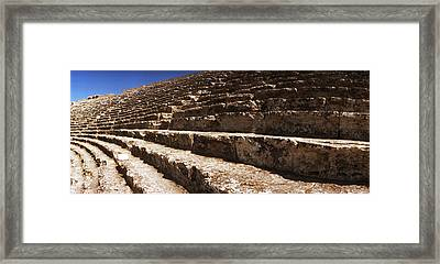 Steps Of The Theatre In The Ruins Framed Print by Panoramic Images