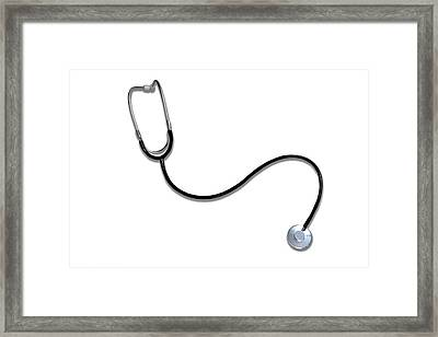 Stethoscope Framed Print by Victor De Schwanberg/science Photo Library