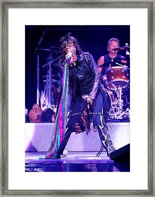 Steven Tyler Aerosmith Framed Print by Don Olea