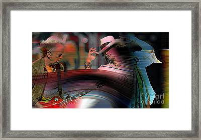 Steven Tyler  Framed Print by Marvin Blaine