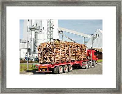 Steven's Croft Biofuel Power Station Framed Print