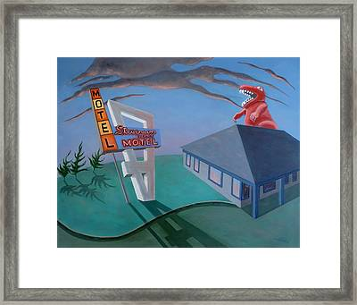 Framed Print featuring the painting Stevenson Motel by Sally Banfill