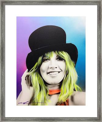 Stevie Nicks - ' Stevie ' Framed Print by Christian Chapman Art