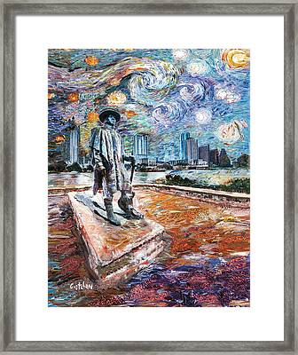 Stevie Ray Gogh Framed Print