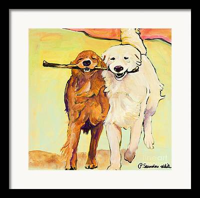 Dog Running Framed Prints