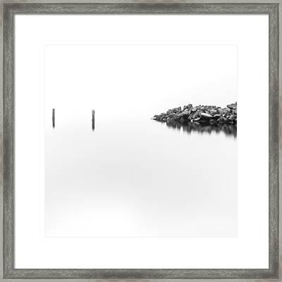 Sticks And Stones Framed Print