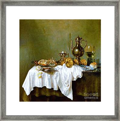 Still-life With Nautilus Cup Framed Print by Reproduction