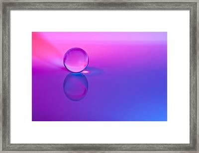 Stillness Of Color Framed Print