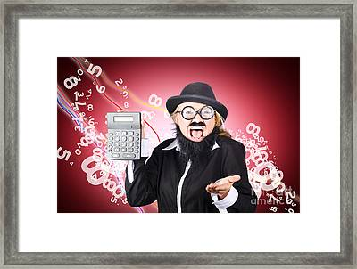 Stock Market Crash Concept. Investor In The Red Framed Print by Jorgo Photography - Wall Art Gallery