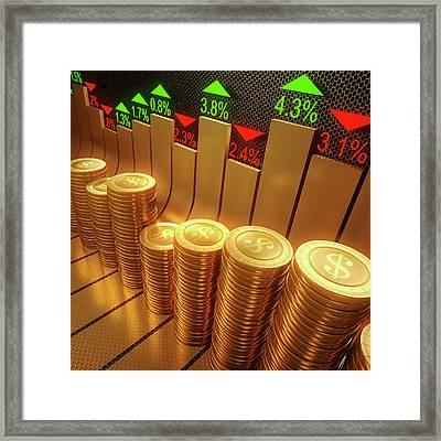 Stock Market Framed Print by Ktsdesign