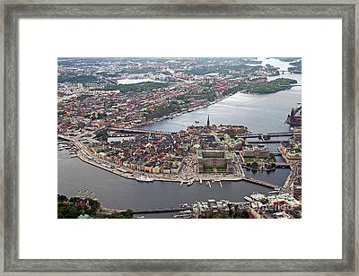 Stockholm Aerial View Framed Print by Lars Ruecker