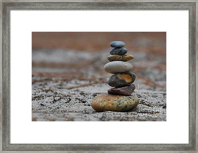 Stone Pyramide Framed Print by Hannes Cmarits