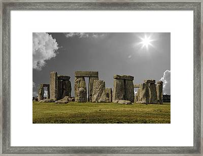 Stonehenge Framed Print by Martin Newman