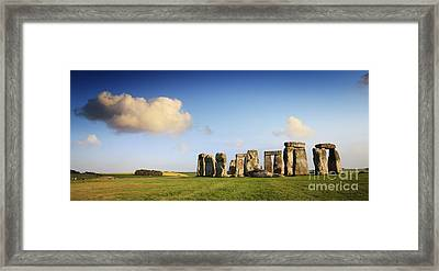 Stonehenge Summer Evening Framed Print by Colin and Linda McKie
