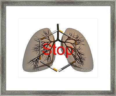 Stop Smoking, Conceptual Artwork Framed Print by Thomas Fester