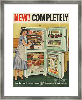 Stor-mor  1950s Uk Fridges Freezers Framed Print