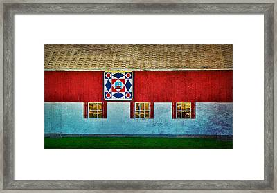 Storm At Sea  Barn Quilt Paint  Framed Print by Carol Toepke