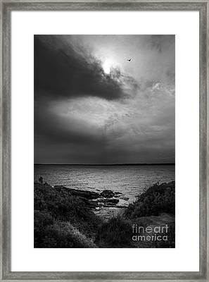 Storm Coming In Framed Print by Diane Diederich
