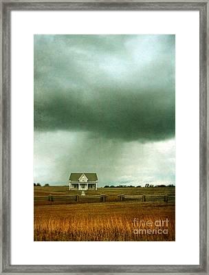 Storm Over Farmhouse Framed Print