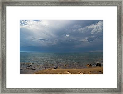 Storm Over Lake Superior Framed Print
