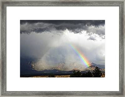 Storm Over The Organ Mountains Framed Print