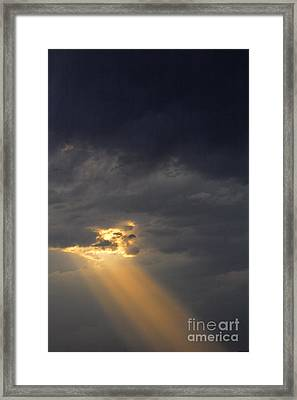 Stormclouds And Sunset At Toktogul In Kyrgyzstan Framed Print by Robert Preston
