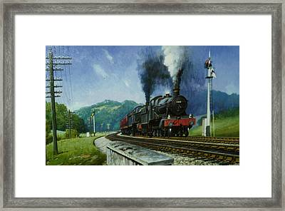 Storming Dainton Framed Print by Mike  Jeffries