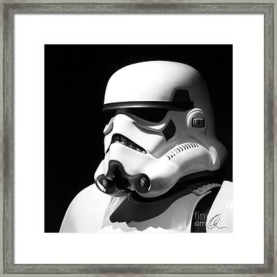 Framed Print featuring the photograph Stormtrooper by Chris Thomas