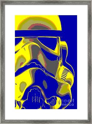 Stormtrooper Helmet 7 Framed Print by Micah May