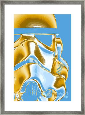 Stormtrooper Helmet 8 Framed Print by Micah May