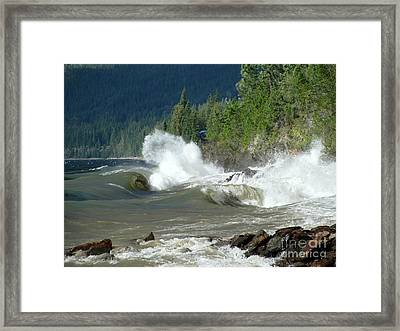 Stormy Lake Framed Print by Leone Lund
