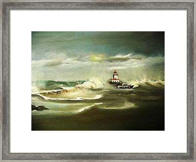 Stormy Framed Print by Pamela Powers