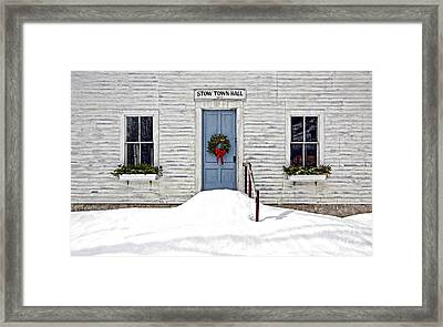 Stow Town Hall . 1842 Framed Print by Thomas J Martin
