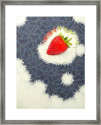 Strawberry Framed Print by Odon Czintos