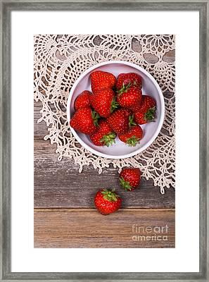 Strawberry Vintage Framed Print