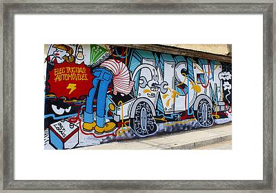 Street Art Valparaiso Chile 15 Framed Print by Kurt Van Wagner
