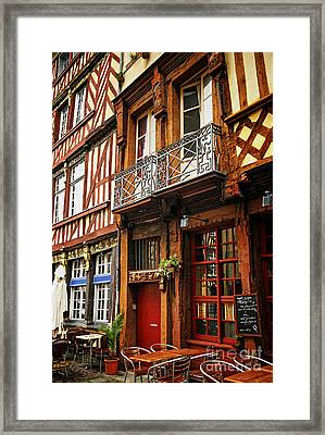 Street In Rennes Framed Print