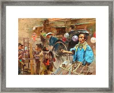 Street Market Framed Print by Pg Reproductions