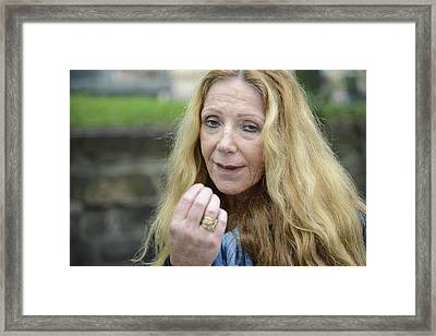 Street People - A Touch Of Humanity 1 Framed Print