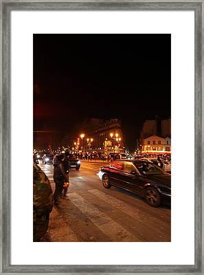Street Scenes - Paris France - 011318 Framed Print
