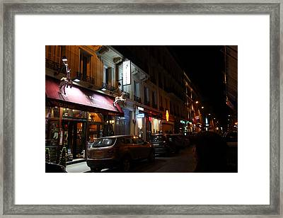 Street Scenes - Paris France - 011321 Framed Print by DC Photographer