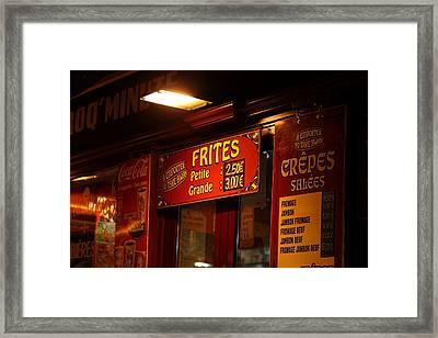 Street Scenes - Paris France - 01134 Framed Print