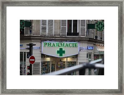 Street Scenes - Paris France - 011341 Framed Print
