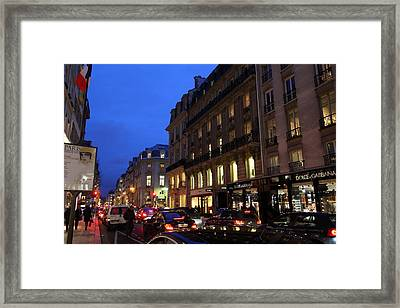 Street Scenes - Paris France - 011345 Framed Print by DC Photographer